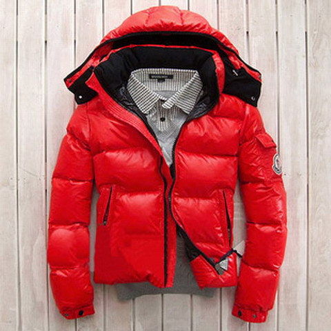 moncler homme rouge