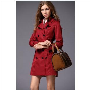 Manteau femme burberry rouge