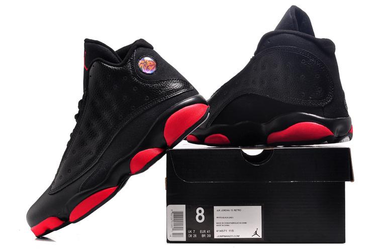 95f42cc2d66c8 air jordan 13 hommes basketball chaussures pas cher taille 41-47 noir rouge- blanc bottom Luxe vedette PARIS style www.sac-lvmarque.com