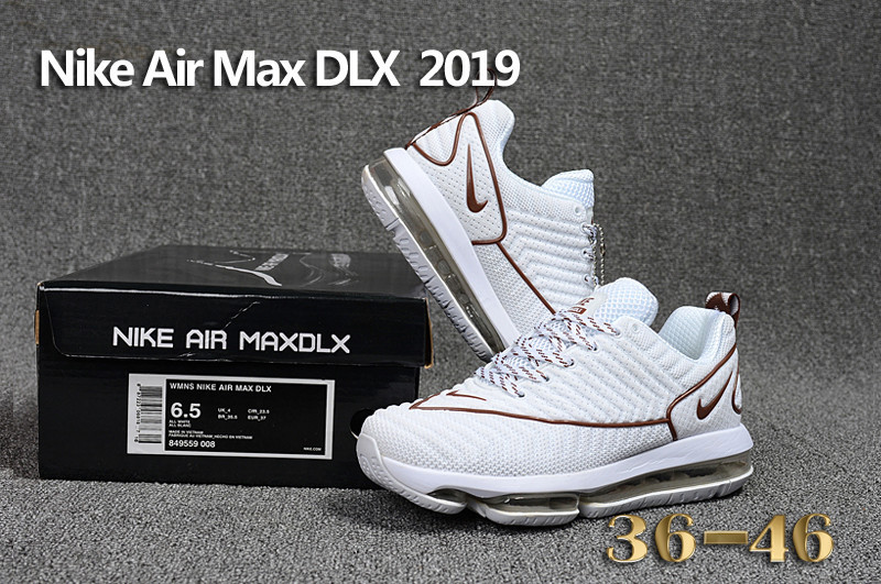 sleek best place detailing baskets nike air max dlx 2019 chaussures de running coffe white
