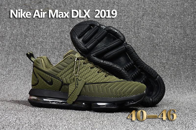 ae07e378c647 baskets nike air max dlx 2019 shoes de running green army Luxe ...