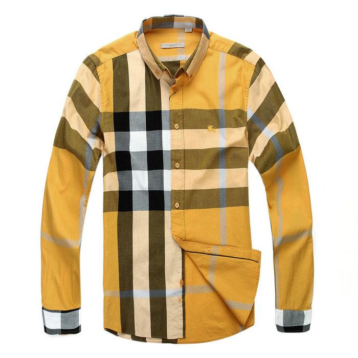 ff41f01f9c57 38.00EUR, Burberry Shirts - page2,carreaux chemise burberry homme Mannches  longue 2312 jaune,soldes chemises