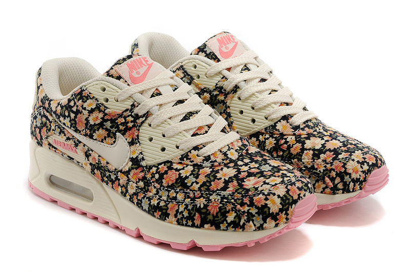 photos officielles c5f7c fba46 chaussures course nike air max 90 femme motif liberte floral ...