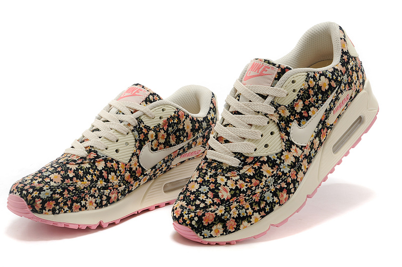 photos officielles c11e9 3065f chaussures course nike air max 90 femme motif liberte floral ...