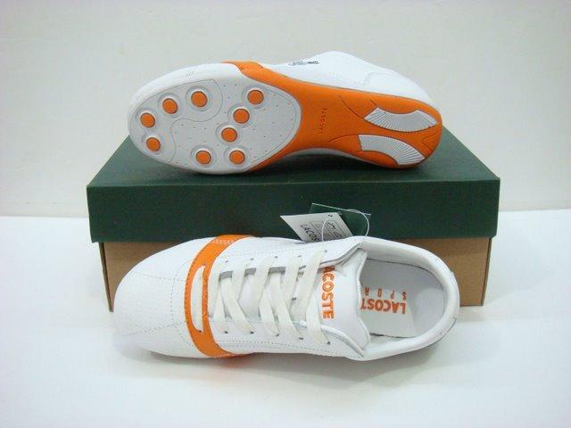 online retailer 8896f c4747 53.00EUR, Lacoste chaussure femme,chaussures lacoste pas cher nouveau  concepteur exquis 0064 orange blanc