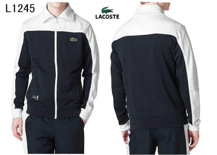 a6de07b9b0 ... Lacoste sport wear survetement man 2013 classic L1245 noir blanc