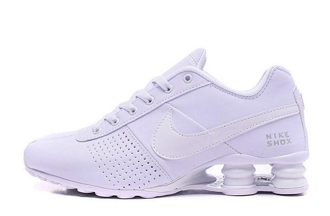 new concept 7db5b b65eb 49.00EUR, NIKE SHOX NZ Men,leather shox deliver formation shoes de sport  tout blanc