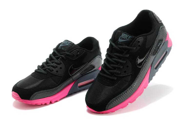 good texture reasonable price run shoes nike air max 90 femmes 2014 basket casual pas cher noir rouge es ...