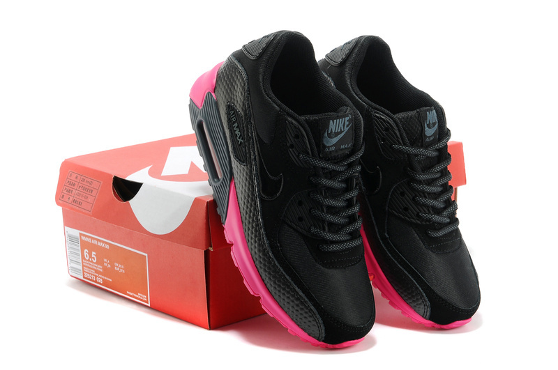 detailed look d6276 e9ad4 nike air max 90 femmes 2014 basket casual pas cher noir rouge es