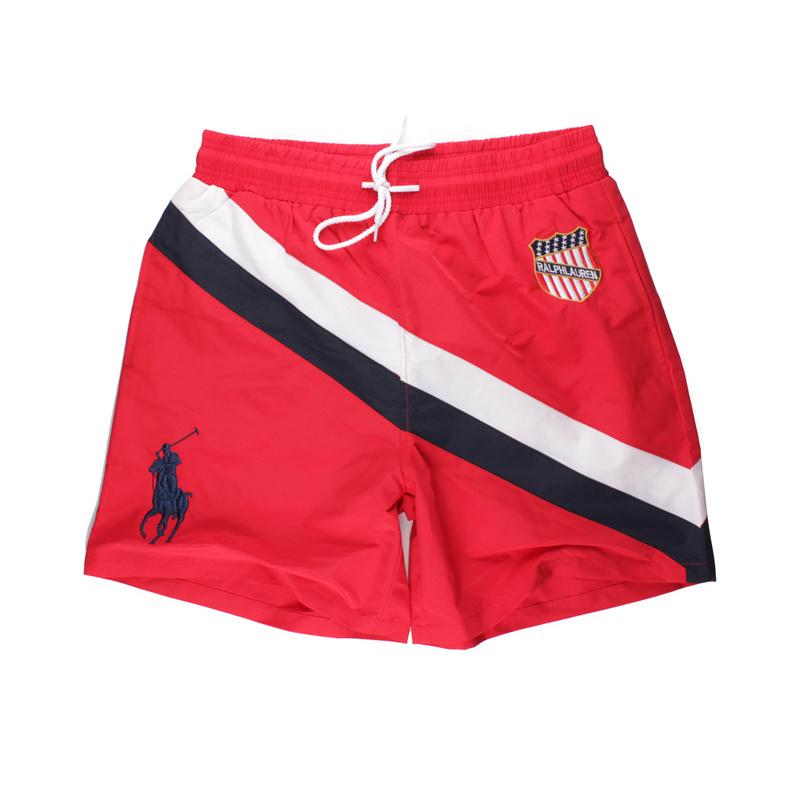 48.00EUR, Ralph Lauren Maillot de bain,ralph lauren polo hawaiian  badeshorts style flag rouge 4e42a7fabafb