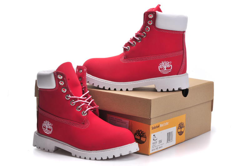 timberland homme rouge blanc