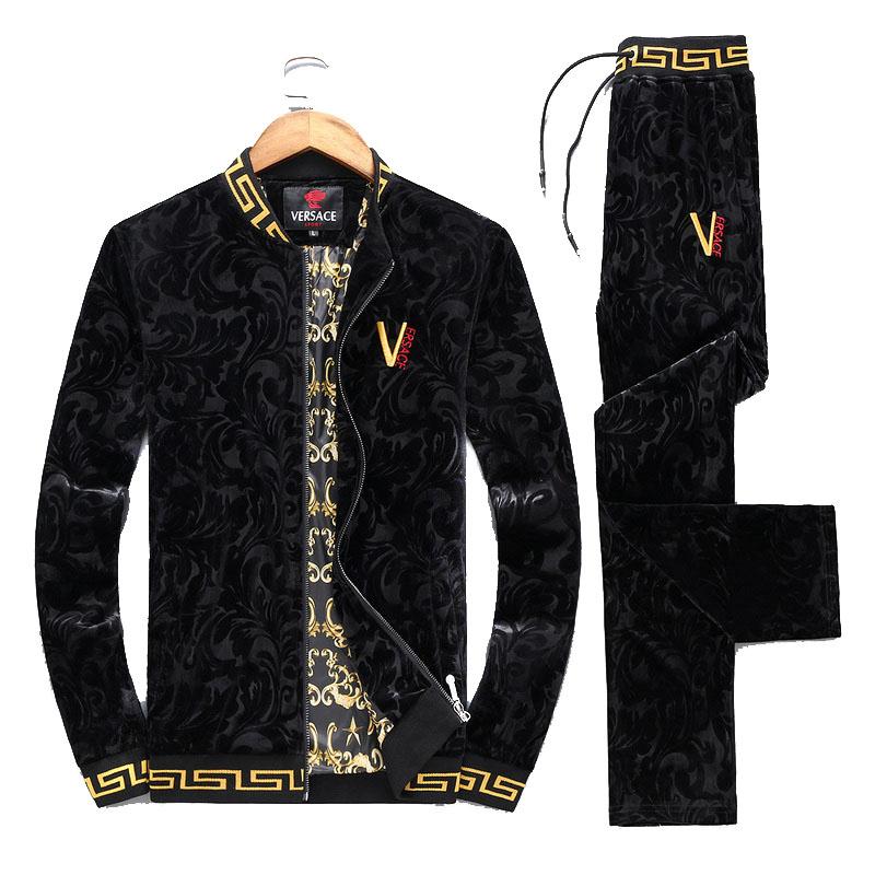 062528f9a7e9c5 88.00EUR, Versace survetement homme - page7,versace Trainingsanzug  tracksuit 2017 v-logo noir