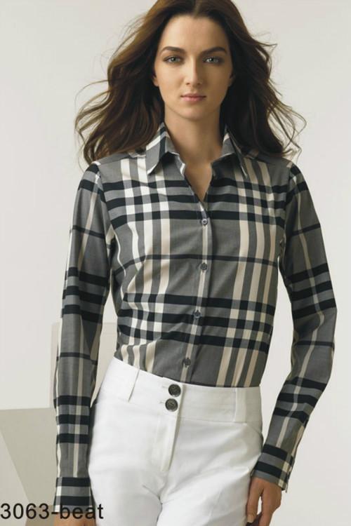 38.00EUR, Burberry Chemises femmes,verifier coton chemise burberry femmes  pas cher slim 8001 gris 27c9175342f