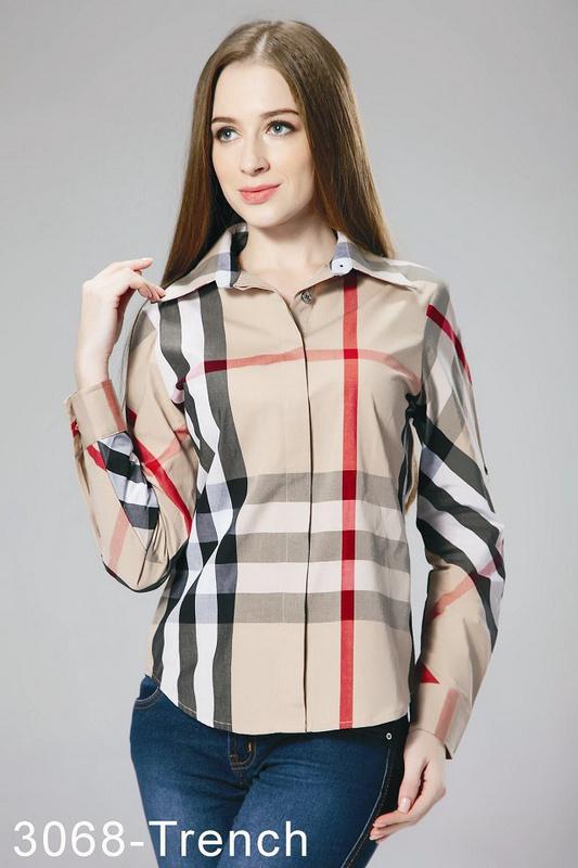 c684fa4a649d 38.00EUR, Burberry Chemises femmes,verifier coton chemise burberry femmes  pas cher slim 832 brun