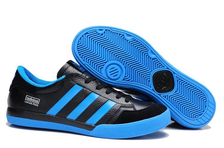 6112dd5223 ... adidas shoes puig 2014 man pour aider bas trefle dentelle loisirs pas  cher Noir Bleu