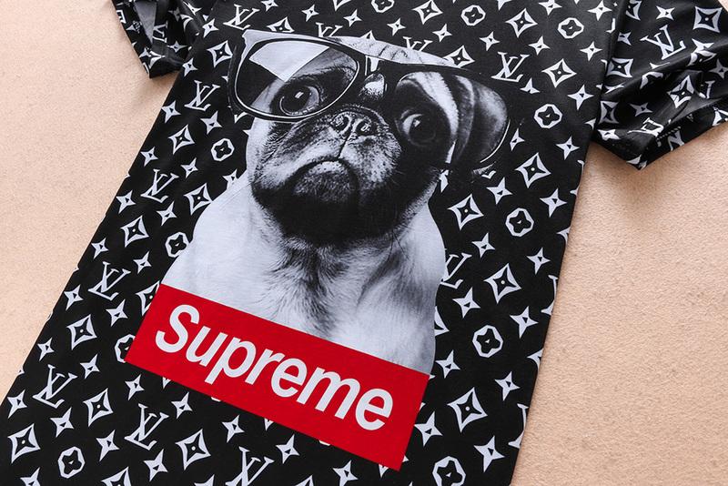 buy louis vuitton t-shirts online noir supreme dog