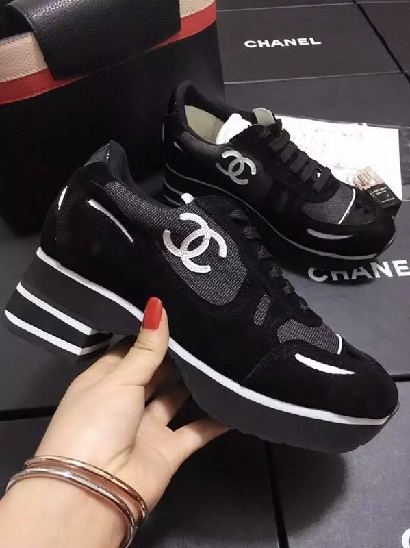 69.00EUR, CHANEL chaussures femmes,chanel chaussure femme 2018 leisure  sports chaussures patent leather black 7b9baecae77