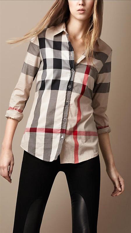 Burberry Chemises femmes - page7,discount burberry chemise en coton femmes  classique florid bby009 92222f26281