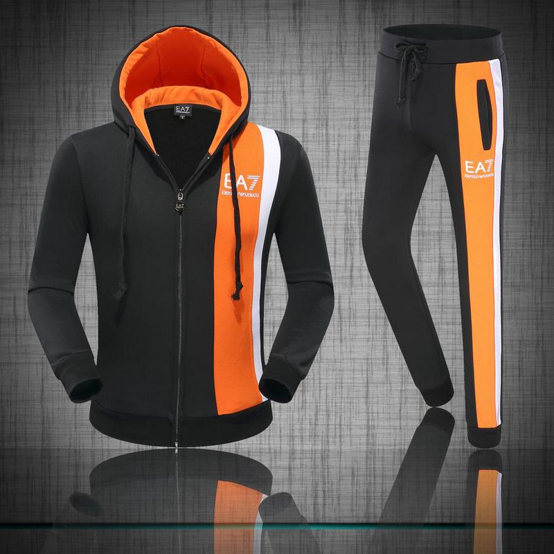 Adidas Survetement Coton a Capuche Noir et Gris ec60388fb83