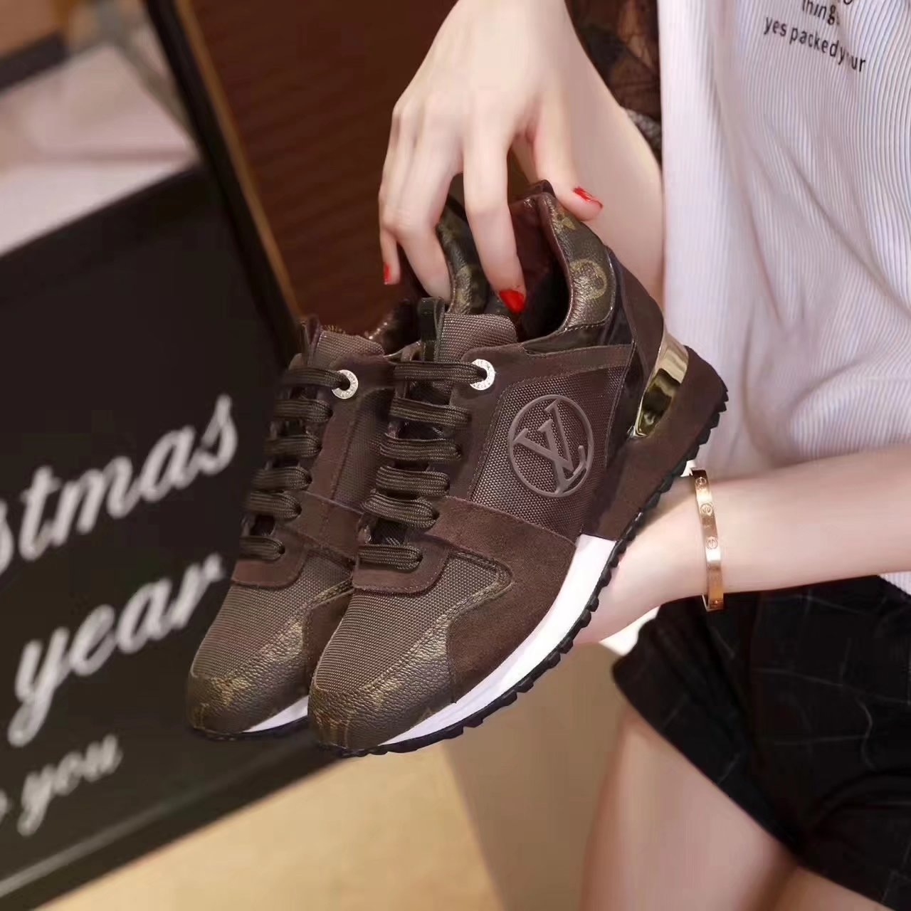 4b154cbe050 louis vuitton new pattern women leisure sports shoes comfortable and ...