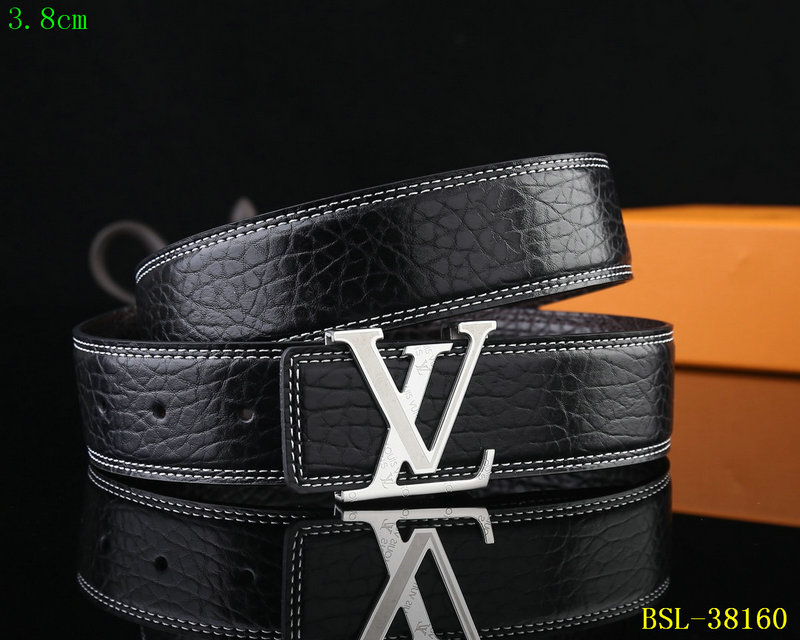 new product f9454 5d846 louis vuitton sac ceinture damier litchi calfskin embossing silver 3.8mm