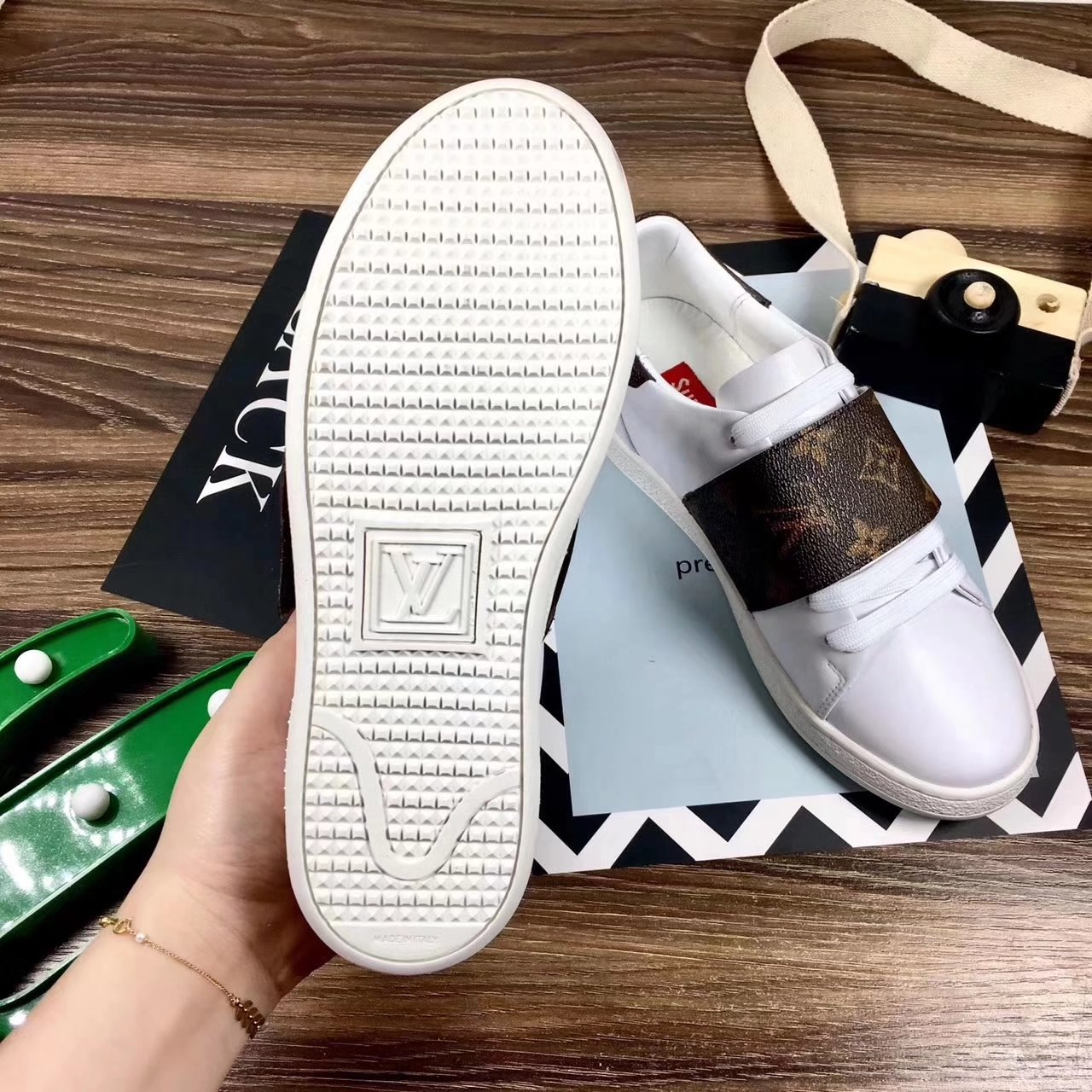 louis vuitton shoes 2017 women italy first layer cowhide full ... b5c14279f1f