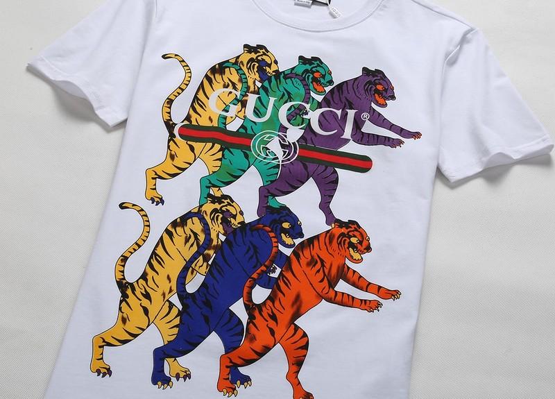 20e4dfe1e5c hommes gucci t-shirts casual design tiger family