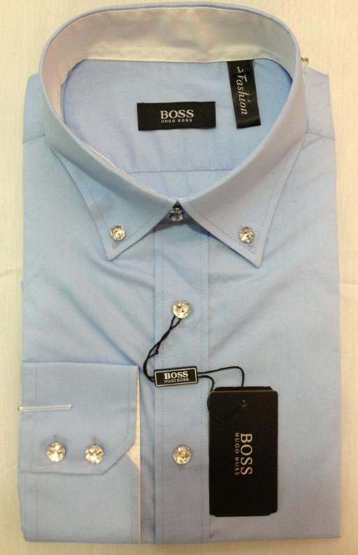38.00EUR, boss chemise hommes,new chemise boss homme longue exquis pas cher  2132 bleu,destockage 67425220723