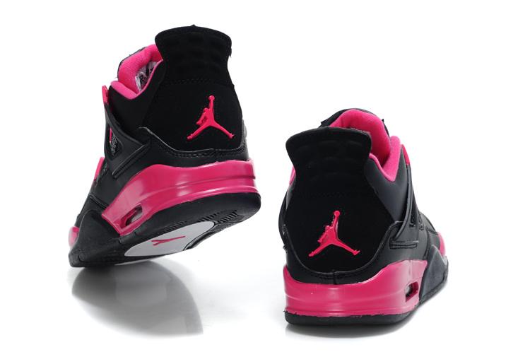 tout neuf 61936 30710 nike air jordan 2012 femmes j4 style-black red,nike air ...