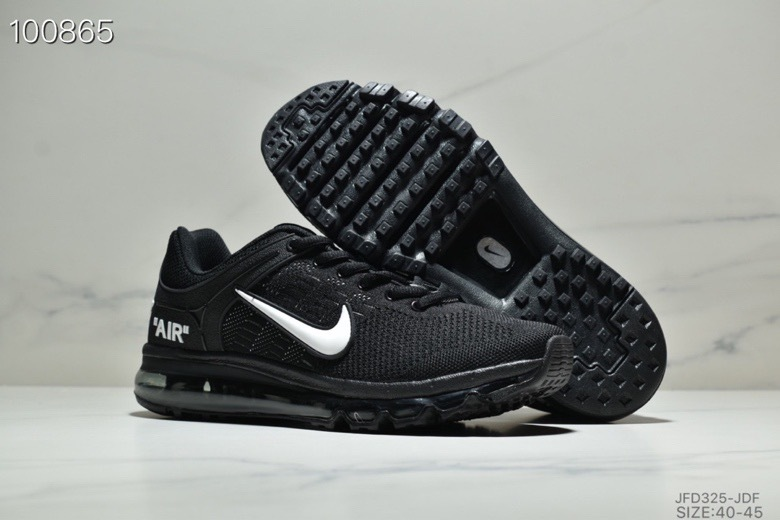 nike air max 360 2019 kpu low sports black white