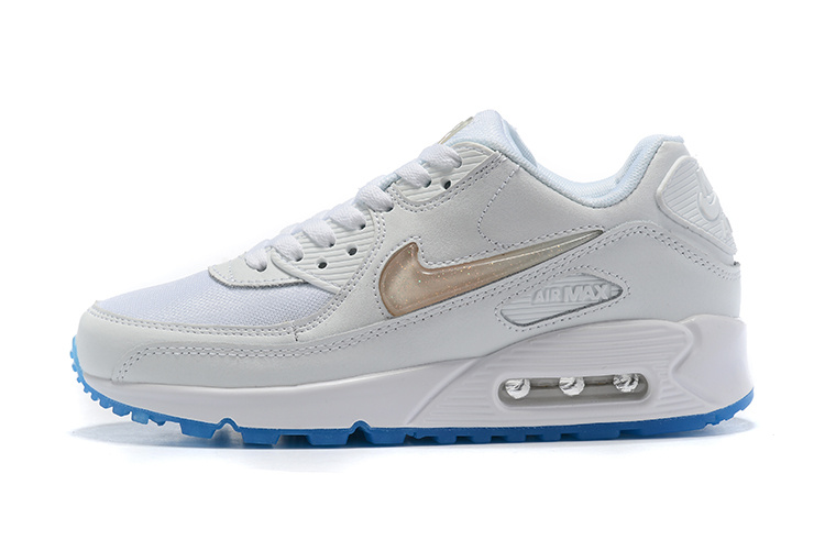 best authentic b3a42 32a6f 56.00EUR, nike air max 90,nike air max 90 pas cher chine white blue crystal  36