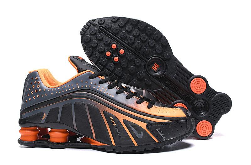 new style e6a8c 272f2 Nike Shox R4 Men,nike shox r4 og basketball orange black
