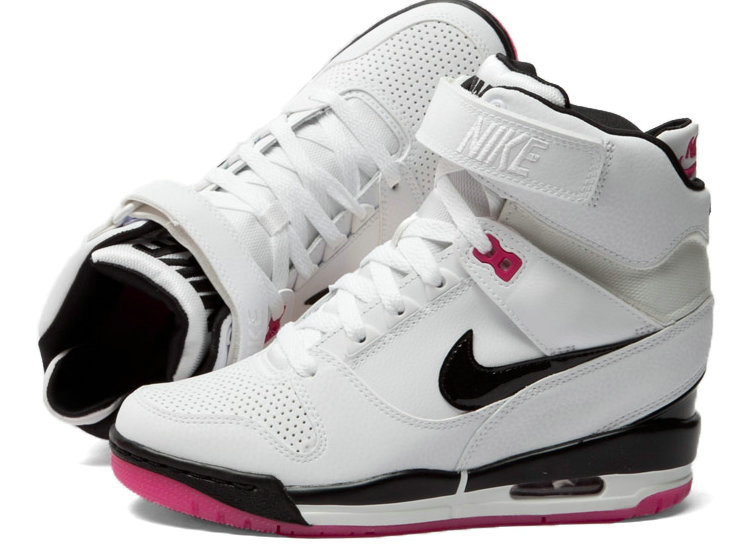 uk availability 7adfa 42883 nike wmns dunk sky hi cut out prm blanc rose boot Luxe vedette PARIS style  www.sac-lvmarque.com