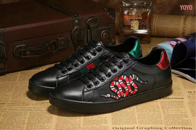 9507b800d promos ventes flash shoes cuir gucci black snake Luxe vedette PARIS ...