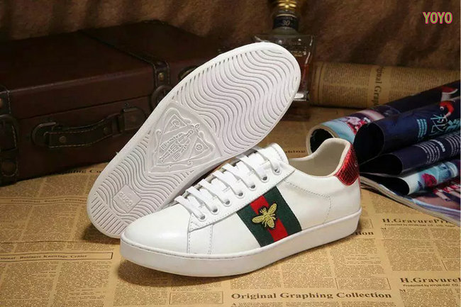 06f1c94c1 promos ventes flash shoes cuir gucci fly bee white Luxe vedette ...