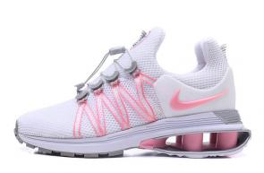 new styles 9ce8b a8f71 59.00EUR, hombres nike shox gravity mesh surface slow gas column white pink