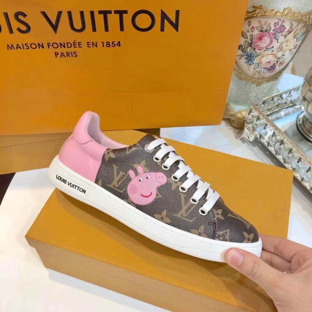 Sneakers Run Away Louis Vuitton Femmes Peppapig Classic Monogram