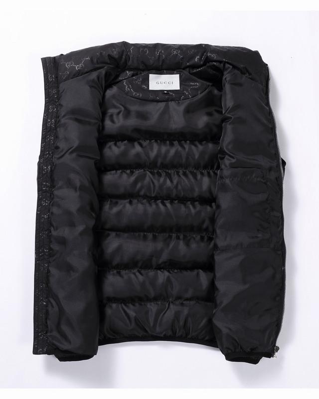 veste doudoune gucci sans manche sport grid black Luxe vedette PARIS ... d6117acabe5