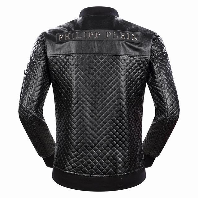 dc4436bcfda5 veste philipp plein lacrim lamb skin black Luxe vedette PARIS style ...